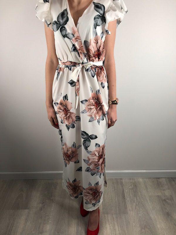 373522dc6 Sukienka Flowers Ecru - weartime.pl